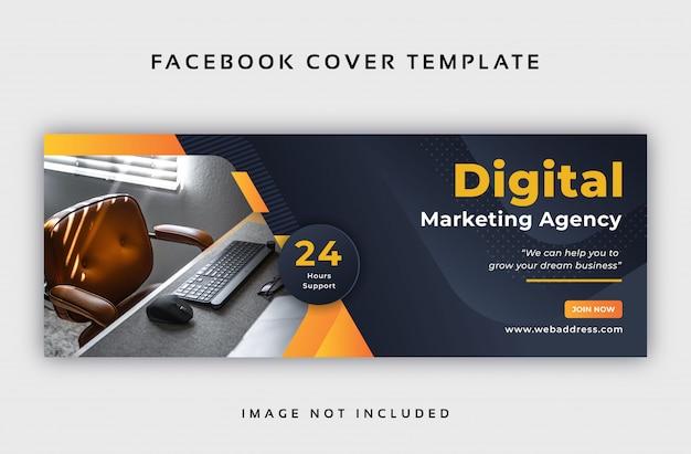 Resumen corporativo plantilla de portada de facebook