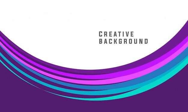 Resumen creativo diseño de folleto púrpura