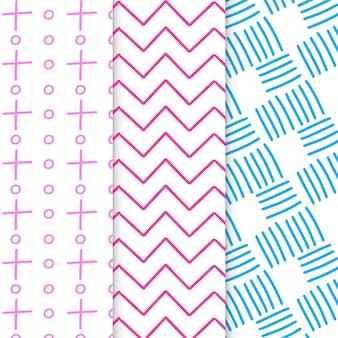 Resumen dibujado a mano patrones geométricos