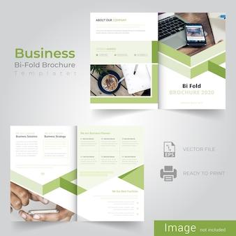 Resumen diseño de folleto bifold