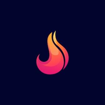 Resumen de diseño de logo de fuego