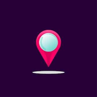 Resumen de diseño de logotipo de ubicación