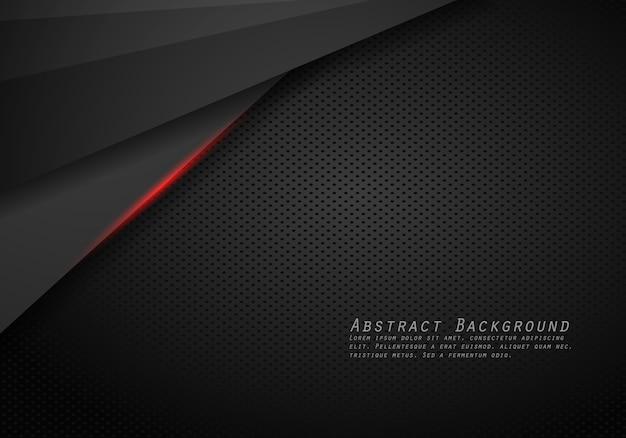 Resumen diseño de marco negro rojo metálico moderno fondo de plantilla de diseño de tecnología