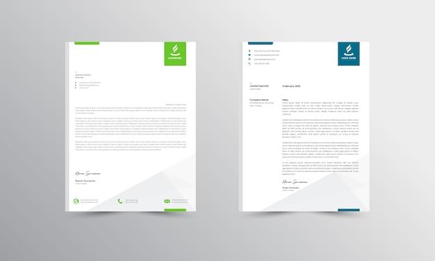 Resumen de diseño de membrete plantilla de diseño de membrete de negocios modernos - vector