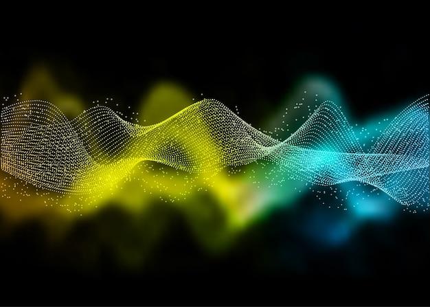 Resumen con un diseño de ondas que fluyen