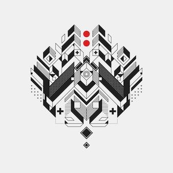Resumen elemento de diseño geométrico sobre fondo blanco. diseño futurista, formas geométricas.