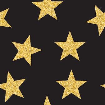 Resumen estrella dorada de patrones sin fisuras fondo ilustración vectorial