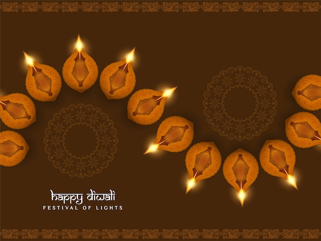 Resumen feliz diwali religiosa elegante fondo