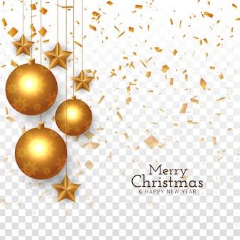 Resumen feliz navidad saludo confeti