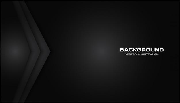 Resumen flecha metálico negro brillante color marco diseño moderno tecnología