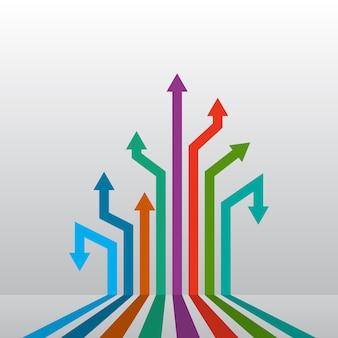Resumen flechas hacia arriba. ilustración