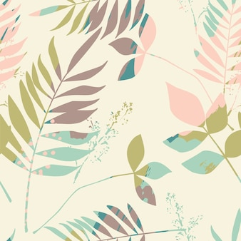 Resumen floral de patrones sin fisuras con texturas de moda.