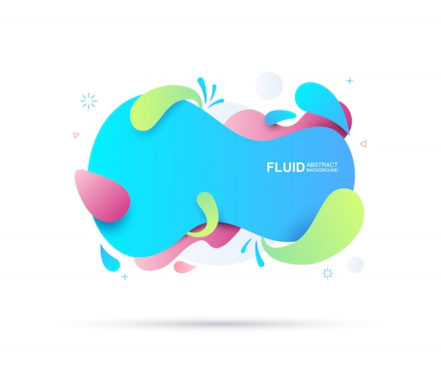 Resumen fluido y elementos modernos. formas dinámicas de color y línea.