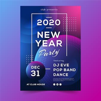 Resumen flyer de noche de fiesta de año nuevo