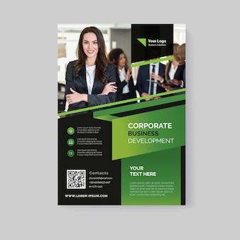 Resumen folleto de negocios con foto