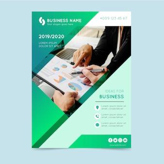 Resumen folleto de negocios con imagen