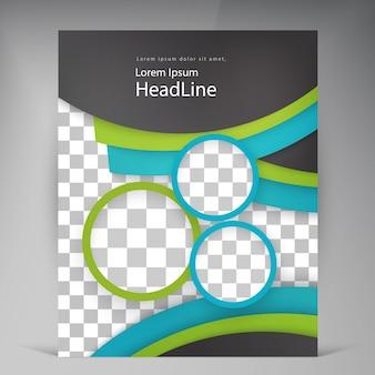 Resumen folletos modernos folletos vectoriales.