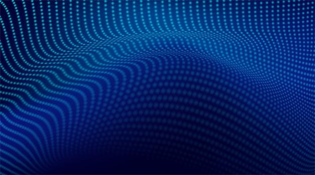 Resumen. fondo azul oscuro punteado ondulado digital. concepto de tecnología