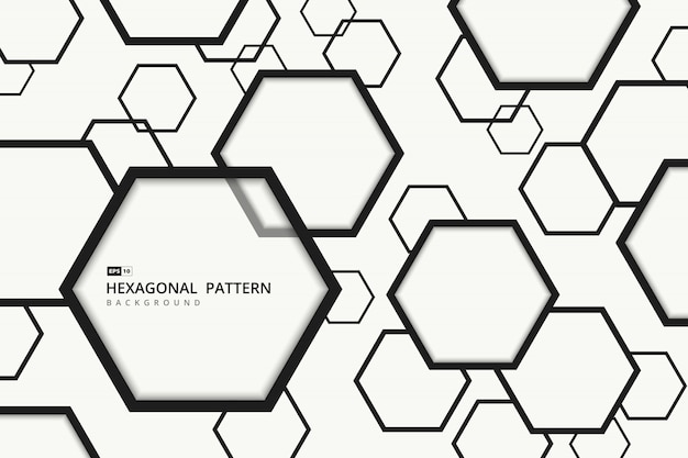 Resumen de fondo hexagonal.