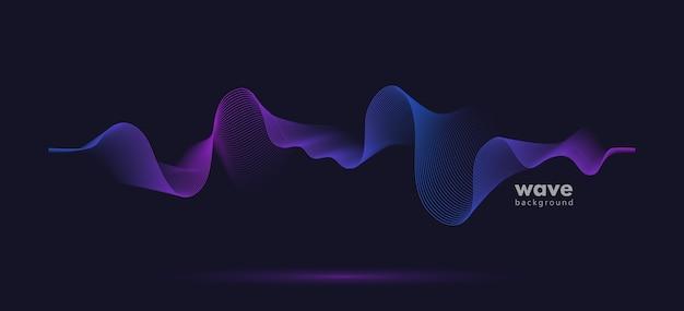 Resumen de fondo de línea de gradiente de onda de movimiento de sonido.