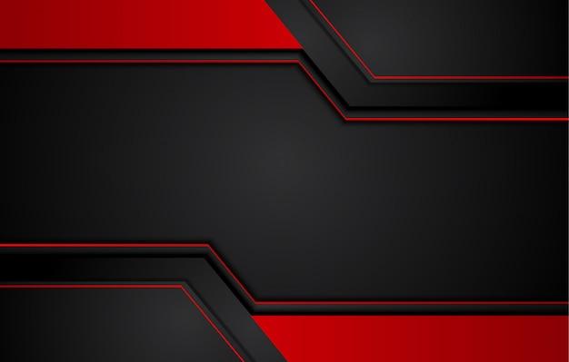 Resumen fondo negro rojo metálico con rayas de contraste. diseño de folleto gráfico abstracto