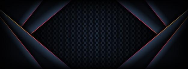 Resumen fondo oscuro banner con combinación de líneas