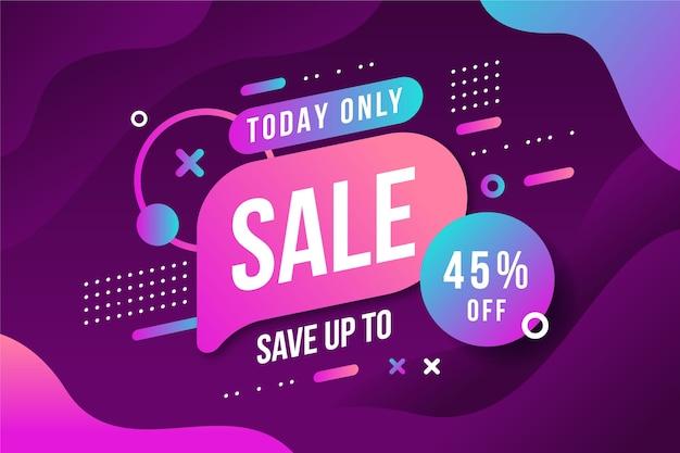 Resumen fondo oscuro de ventas retro