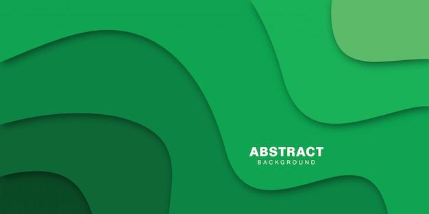 Resumen forma verde. efecto de papel de ilustración vectorial.
