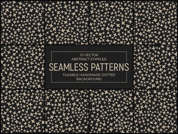 Resumen funky seamless patterns vector set