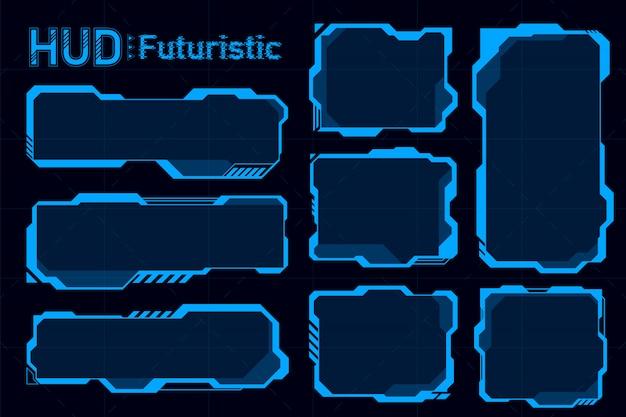 Resumen futurista de hud. concepto de tema futuro.