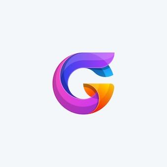 Resumen g color concepto ilustración vectorial