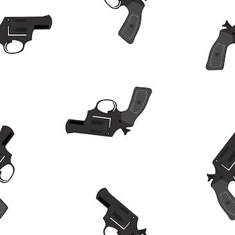 Resumen gunseamless pattern en blanco. ilustración