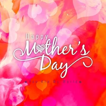 Resumen hermoso día de la madre saludo fondo