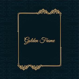 Resumen hermoso marco dorado