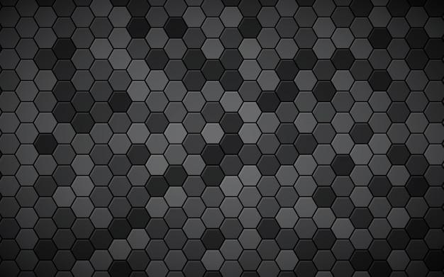 Resumen hexágono fondo negro