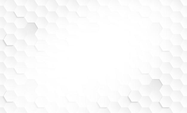 Resumen. hexágono, panal blanco, luz y sombra.