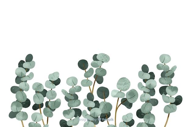 Resumen hojas pintadas con espacio de copia