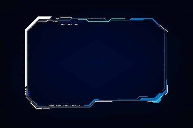 Resumen hud ui gui futuro sistema de pantalla futurista virtual