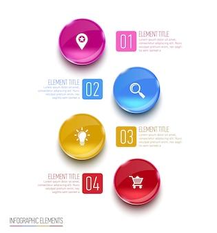 Resumen ilustración digital infografía.