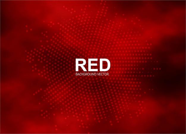 Resumen ilustración de fondo de semitono rojo