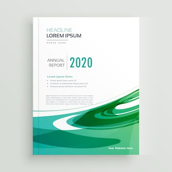 Resumen de informe anual folleto de negocios folleto de diseño