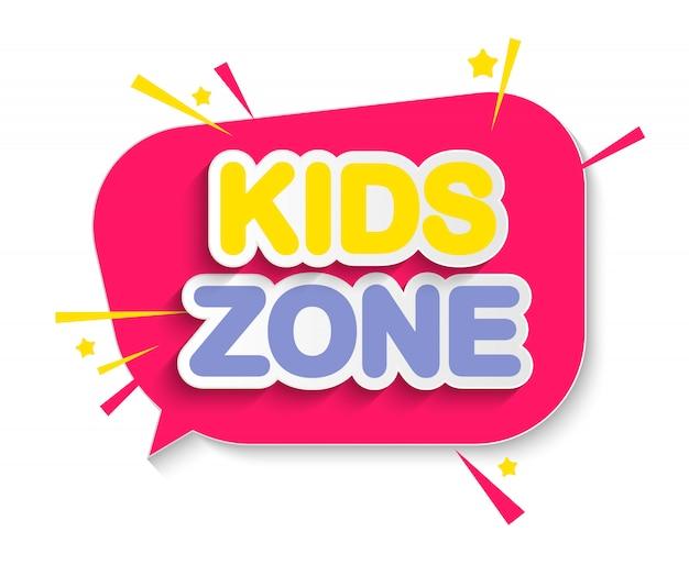 Resumen kids zone en blanco. ilustración