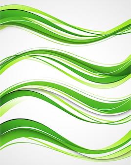 Resumen líneas curvas de fondo. diseño de folleto de plantilla