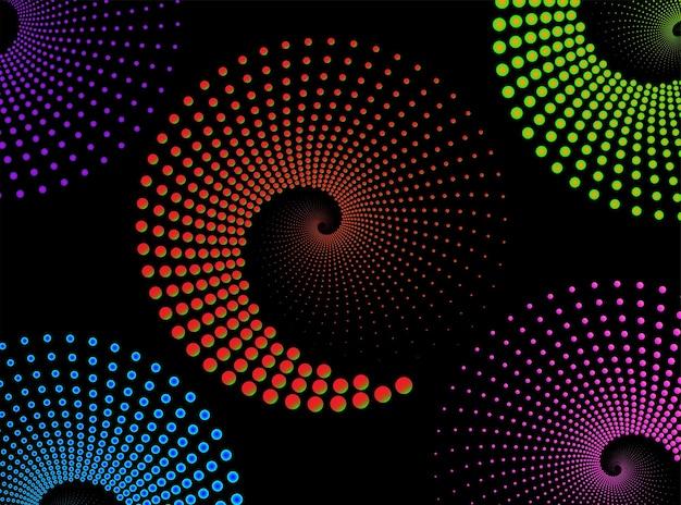 Resumen líneas giradas en forma de círculo como elemento de diseño de fondo para el logotipo de impresiones