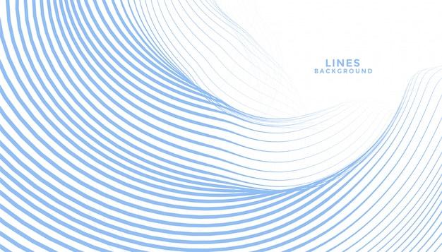 Resumen líneas onduladas azules que fluyen diseño de fondo