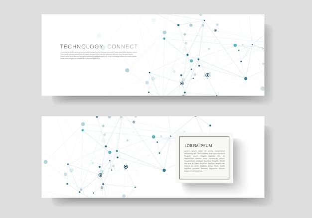 Resumen con líneas y puntos conectados y plantilla