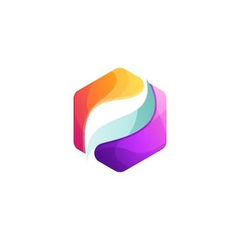 Resumen de logotipo hexagonal