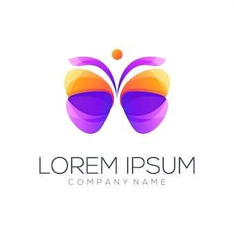 Resumen de logotipo de mariposa