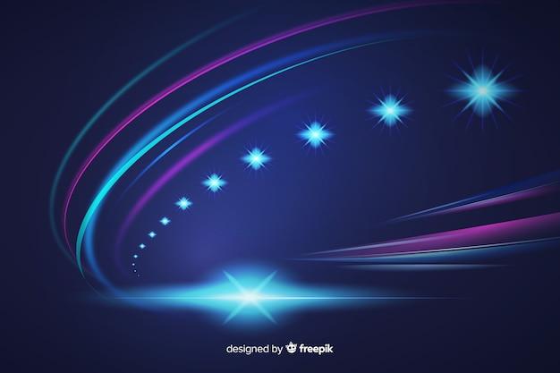 Resumen luces de alta velocidad camino de fondo
