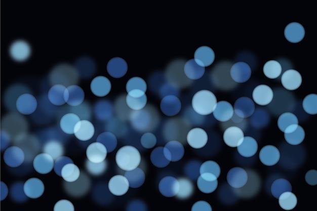 Resumen luces borrosas con puntos y manchas